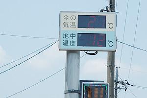 温度表示パネル