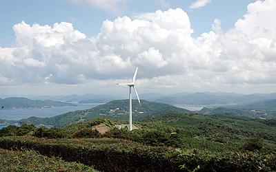 千畳敷の風力発電