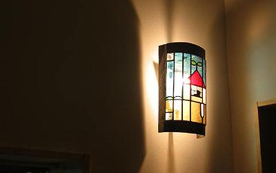 越谷レイクタウン体感館にあるステンドグラス
