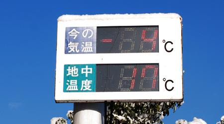 地中温度と外気温度の比較