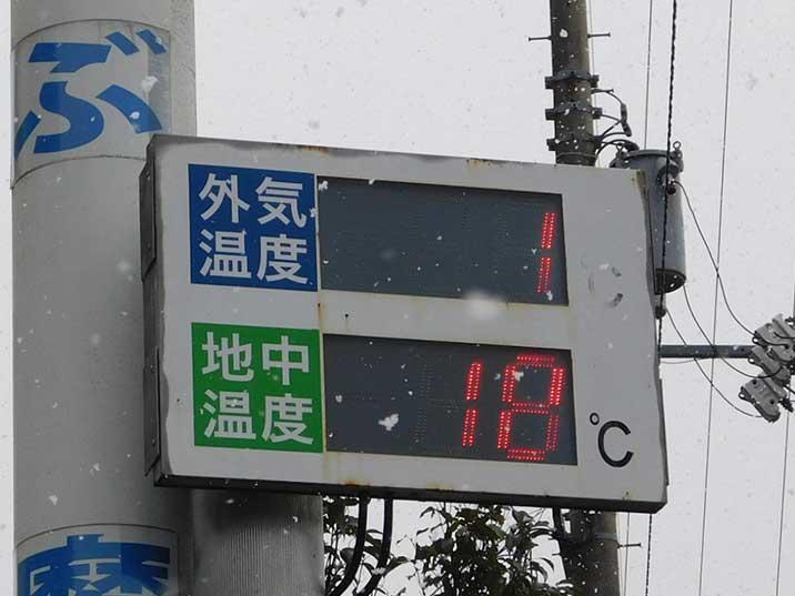 外気温度・地中温度