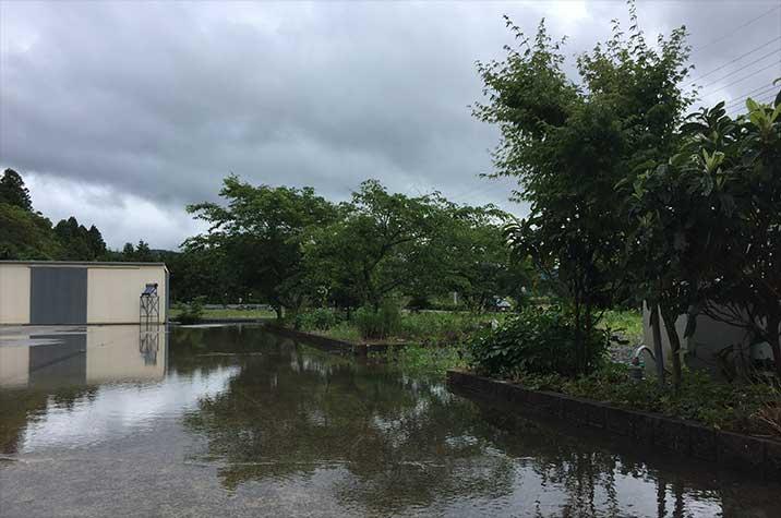 美祢市大雨の後