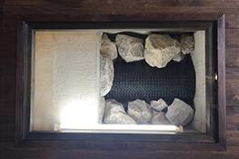 グリ石やメッシュパイプ等の展示も