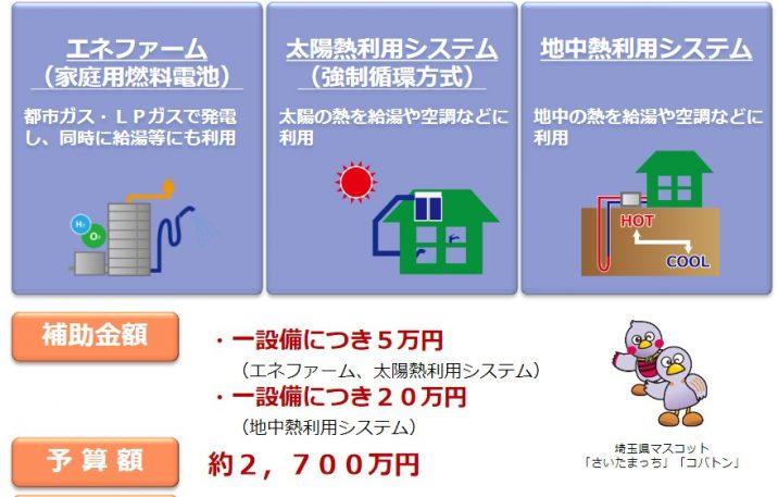 埼玉県地中熱補助金